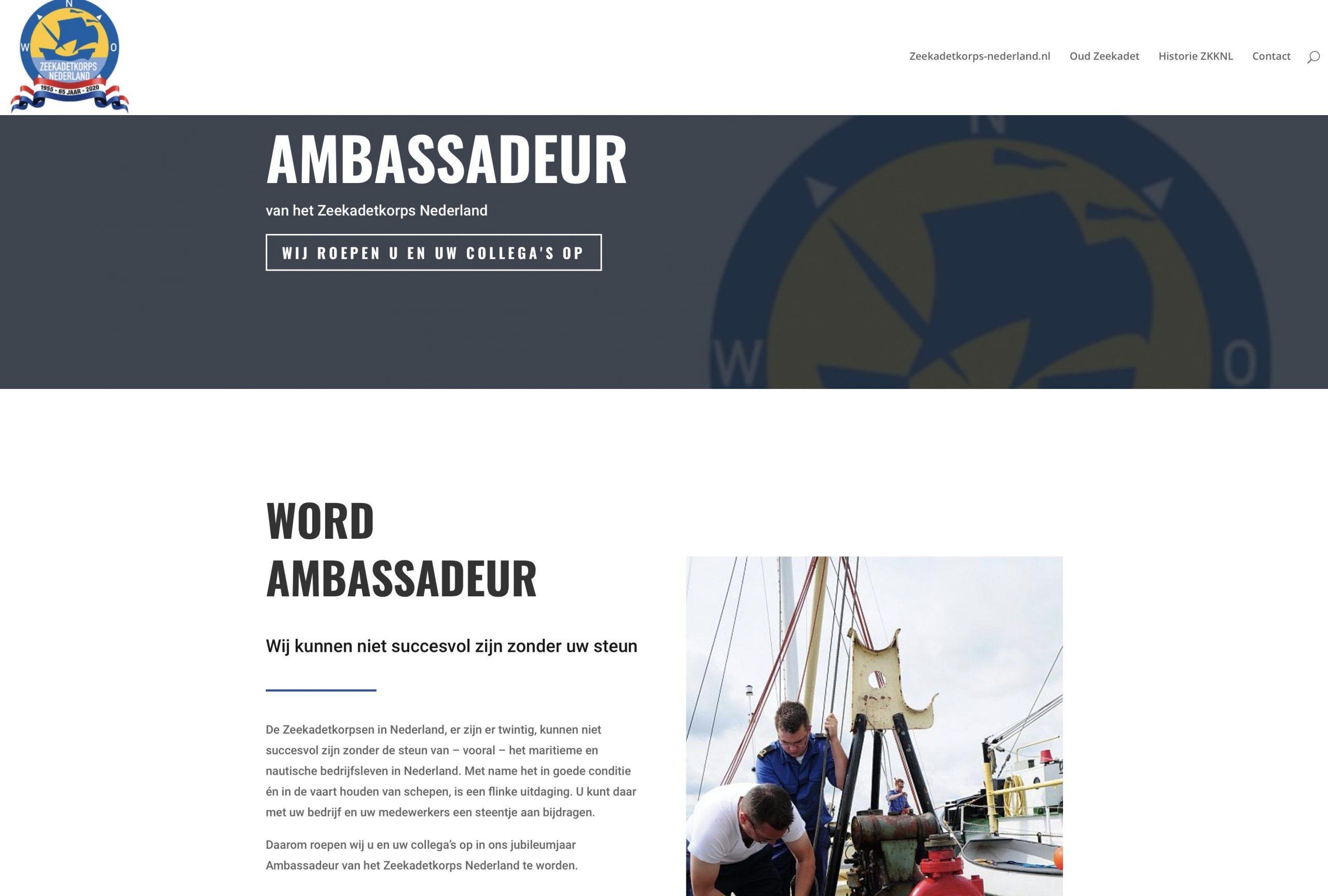 Ambassadeur Zeekadetkorps Nederland